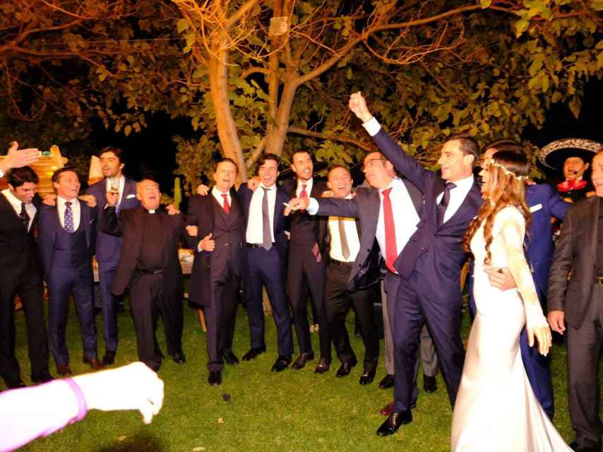 Detalle de la fiesta de la boda de Paco Ureña.