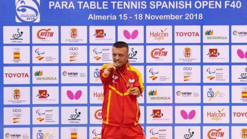 Alberto Seoane, durante un campeonato de España