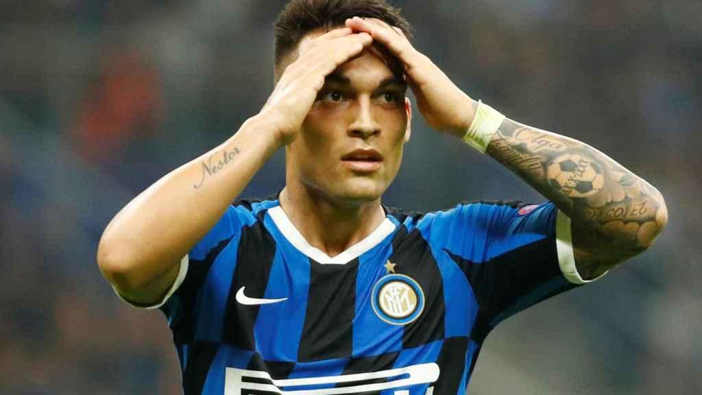 Lautaro Martínez, con el Inter de Milán