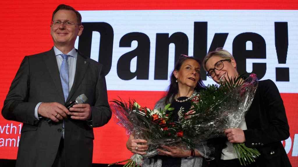 Bodo Ramelow (Die Linke partido izquierdista), ganador de las elecciones en Turingia