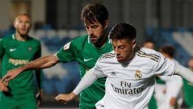 Franchu, en el partido entre el Castilla y el Racing de Ferrol