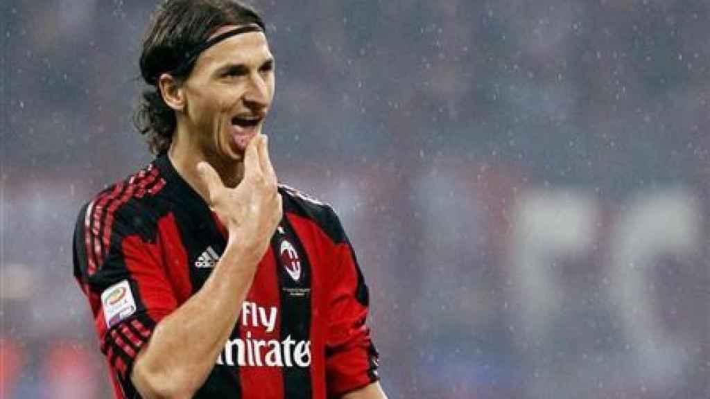 Ibrahimovic, en un partido del Milan