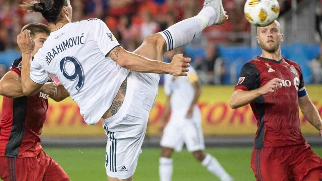 Zlatan Ibrahimovic, en un partido de Los Angeles Galaxy