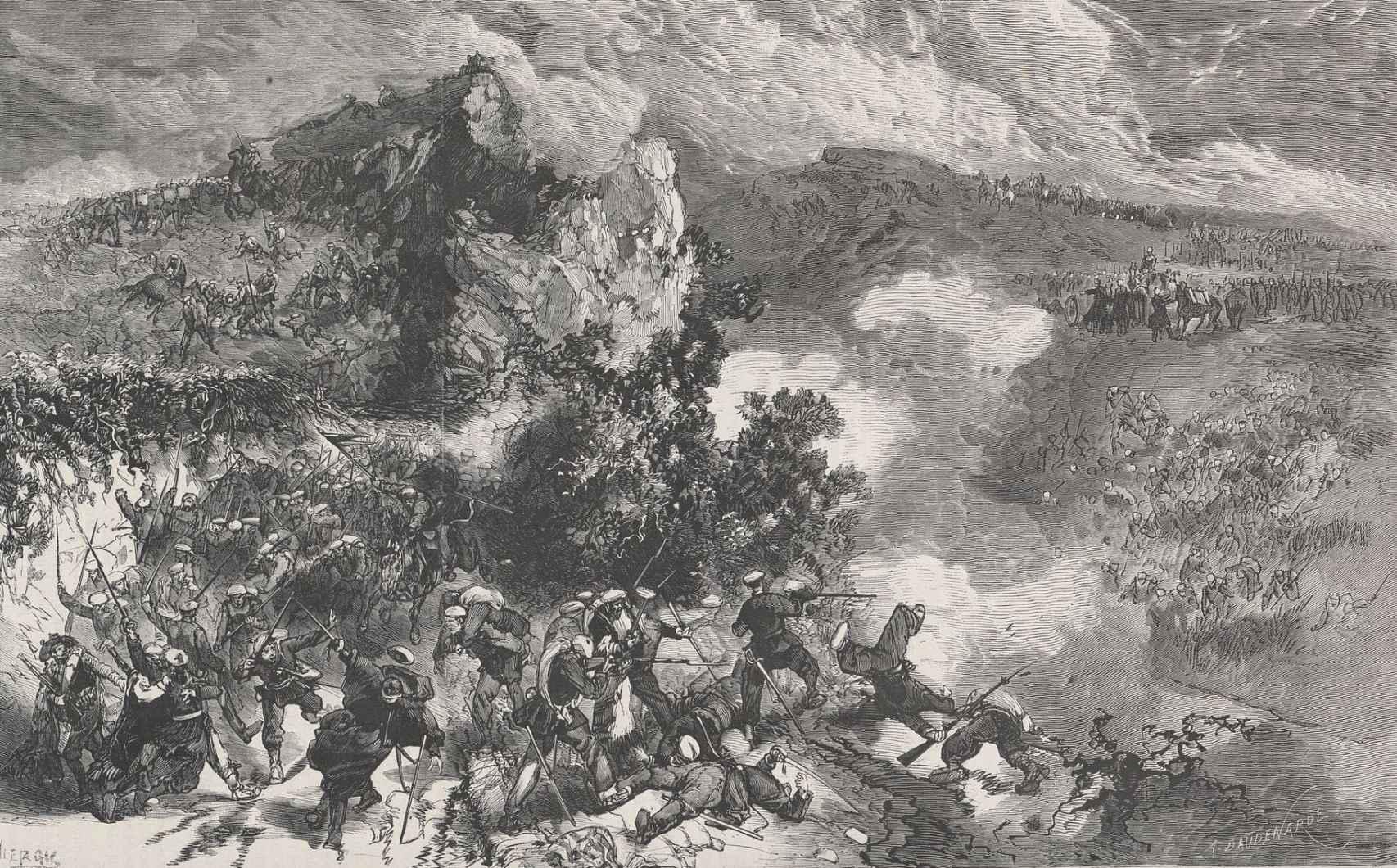 El combate de Mañaria, cerca de Bilbao (1872).