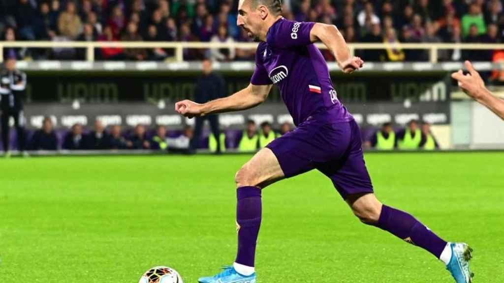 Franck Ribéry, durante un partido de la Fiorentina
