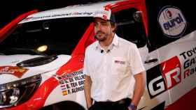 Fernando Alonso, en el acto de Toyota