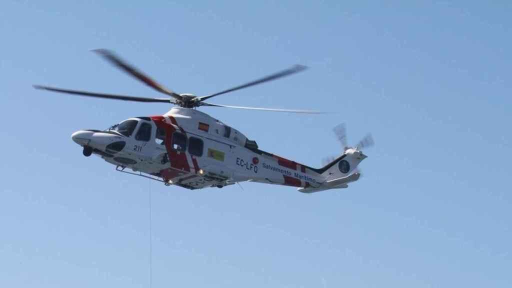 Helicóptero de Salvamento Marítimo, en una imagen de archivo.