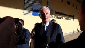 El negociador de la UE, Michel Barnier, se dirige este lunes a la reunión de embajadores
