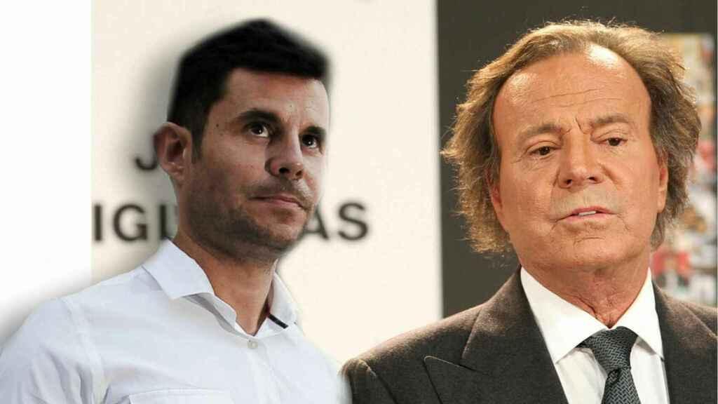 Julio Iglesias junto a su hijo legal Javier Santos en montaje JALEOS.