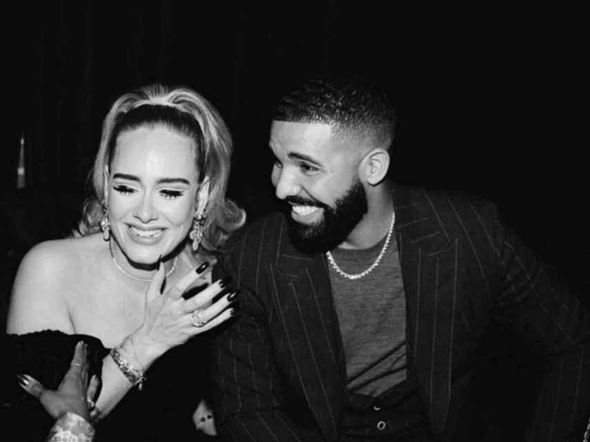 Adele y Drake en el cumpleaños del rapero.
