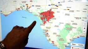 Mapa de cómo afectará el cambio climático a las inundaciones.
