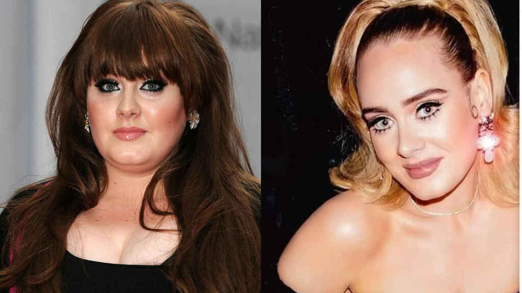 Adele Adkins, antes y después de su gran cambio físico.