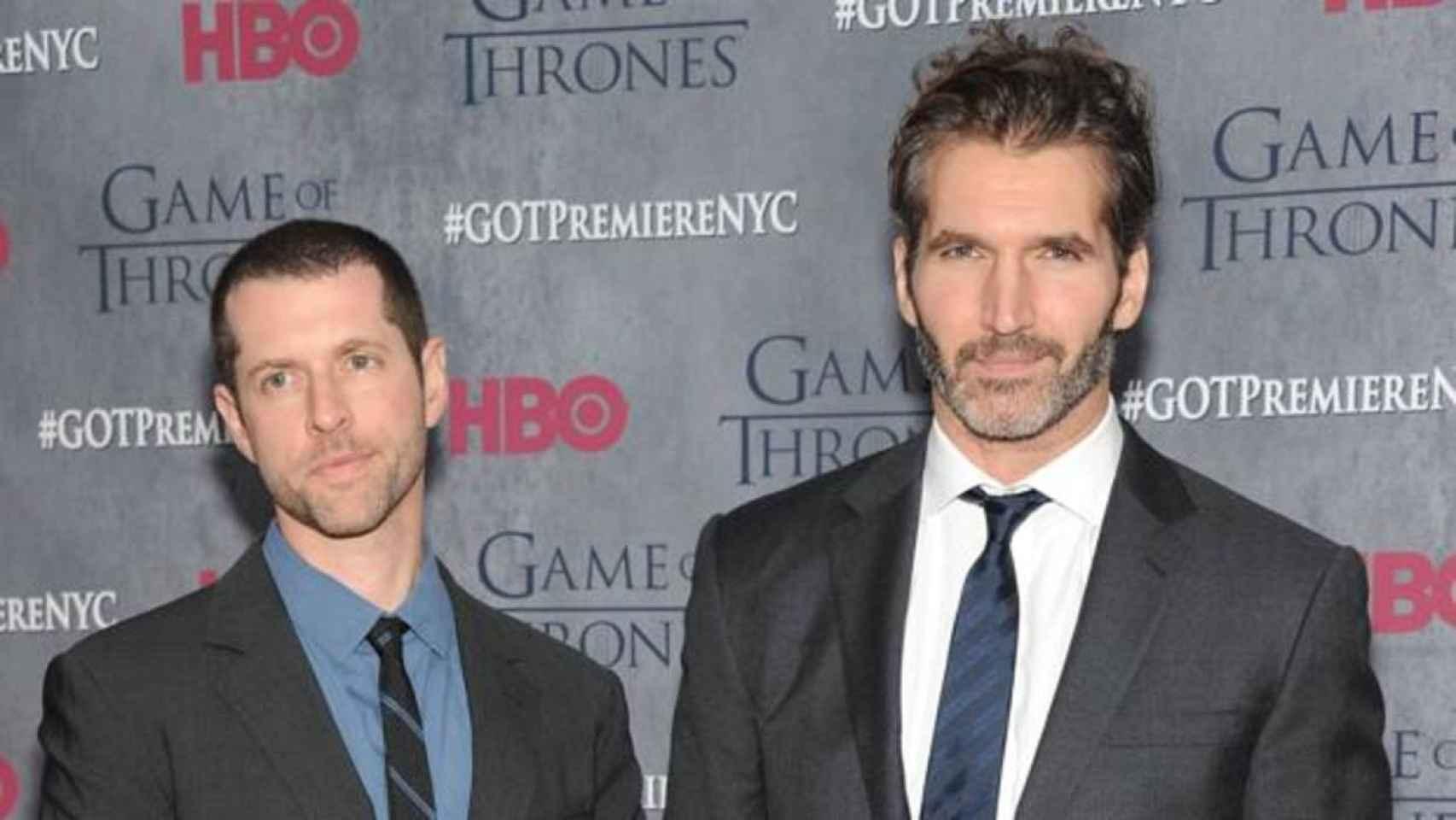 Los creadores de 'Juego de Tronos', en una foto de archivo.