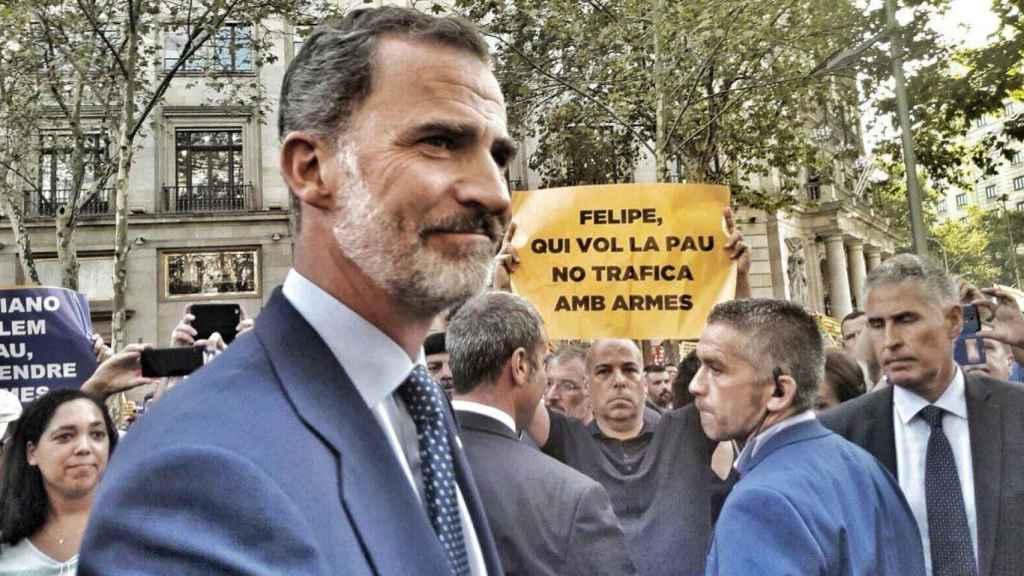Felipe VI ya ha sido objeto de boicots de los radicales en Barcelona.