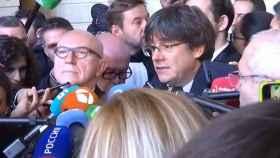 Puigdemont en declaraciones a los medios este martes.