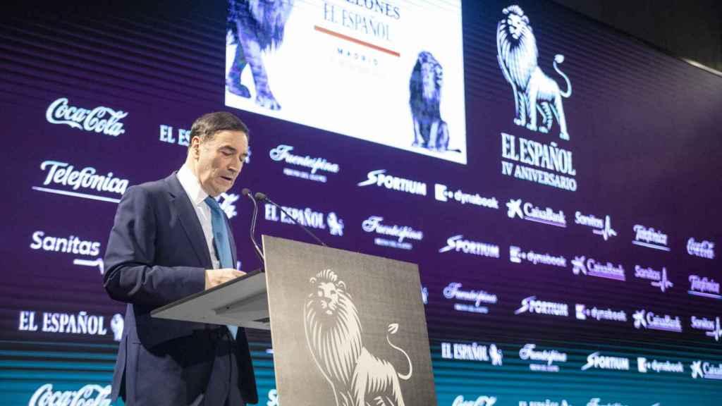 Pedro J. Ramírez, director de EL ESPAÑOL, durante su discurso.