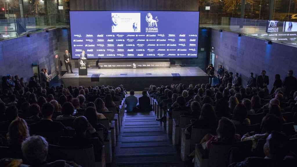 El auditorio del Comité Olímpico Español durante el discurso de Pedro J. Ramírez.