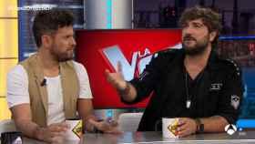 Pablo López y Antonio Orozco durante su nueva visita a 'El Hormiguero'.