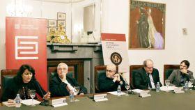 Isabel María García Fernández, Juan Miguel Hernández León, Ignacio Amestoy,  Ángel Gabilondo y Pablo Iglesias Simón.