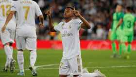 Rodrygo Goes celebra su gol al Leganés