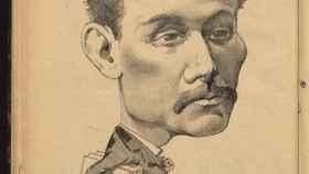 Caricatura de Galdós.