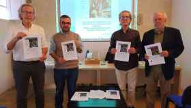 Tomeu Berga, Pep Ignasi Aguiló, Julián Ruiz-Bravo y Fernando Merino en la presentación del informe.