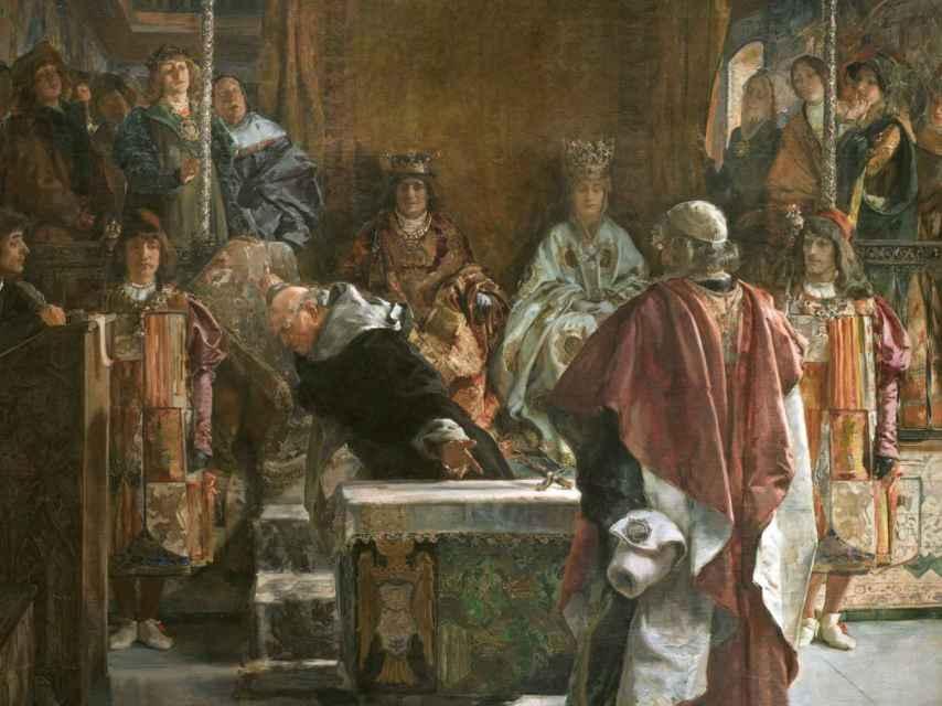 Lienzo del pintor Emilio Sala Francés donde se representa el hecho.