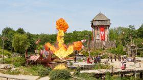 Escena de 'Los vikingos', uno de los mejores espectáculos de Puy du Fou.