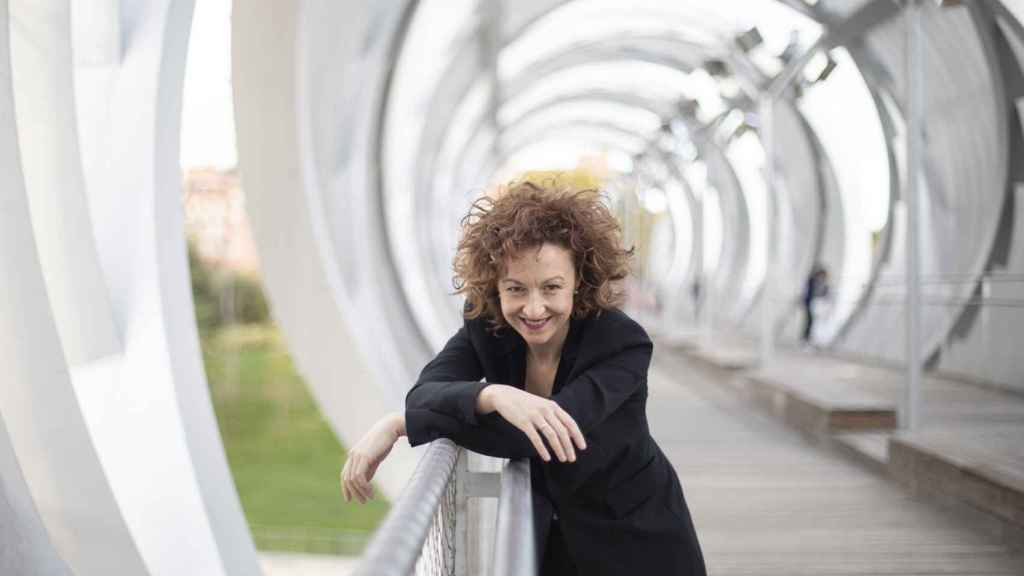 Lucía Marín, directora de orquesta, antes de su debut con la OCNE en el Auditorio Nacional.