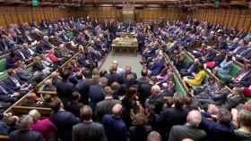 El Parlamento británico durante un debate.