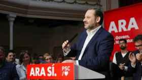 José Luis Ábalos, secretario de Organización del PSOE, este domingo en Sant Joan Despí (Barcelona).