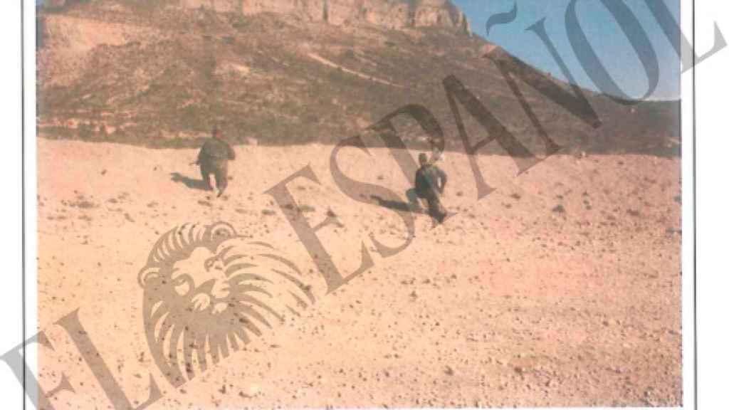 Imágenes de la reconstrucción de los hechos en el campo de tiro en el que cayó Alejandro