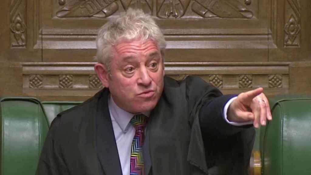 John Bercow en el Parlamento británico.