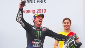 Maverick Viñalez celebra su victoria en Malasia.