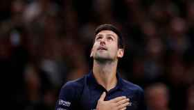 Djokovic, durante la final del Masters 1000 de París