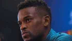 Nelson Semedo, en rueda de prensa previa a la Champions League