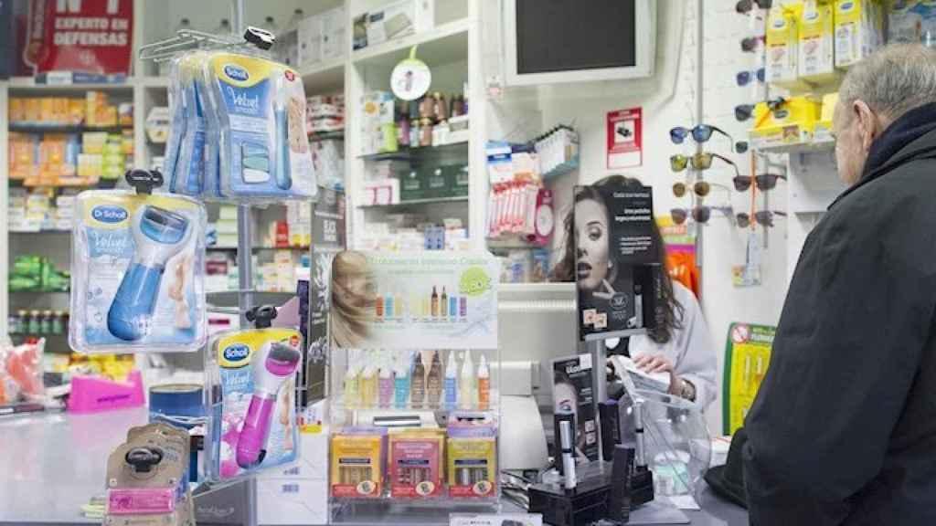 Productos de Dr. Scholl's en una farmacia.