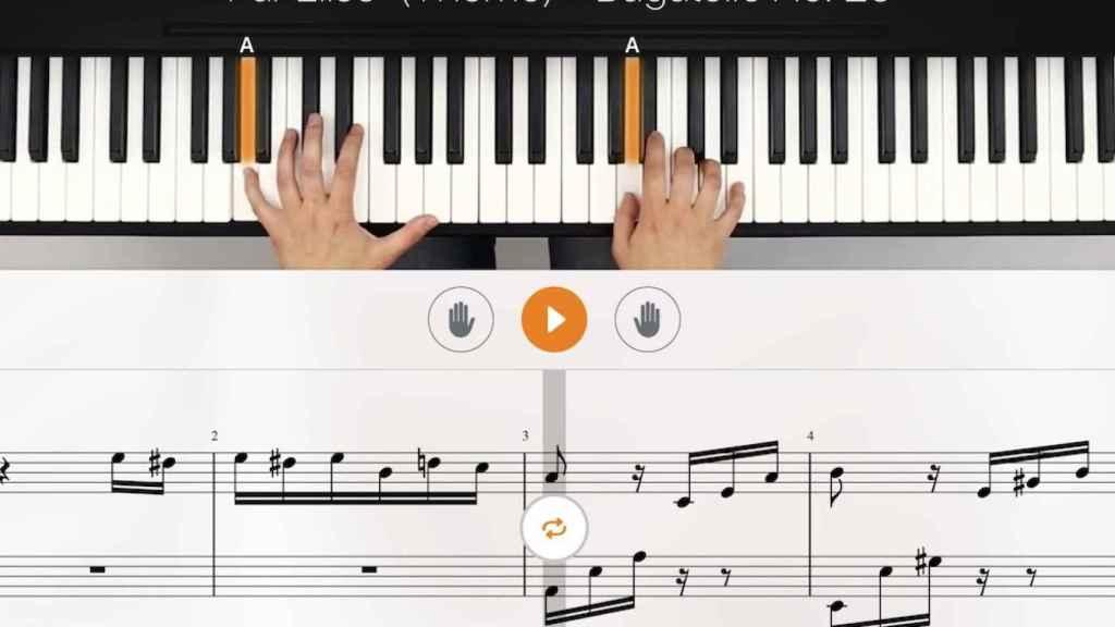 Aplicación flowkey para aprender a tocar el piano
