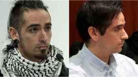 Rodrigo Lanza, a la izquierda, en su época de antisistema. A la derecha, el asesino tal y como se presentó al juicio.