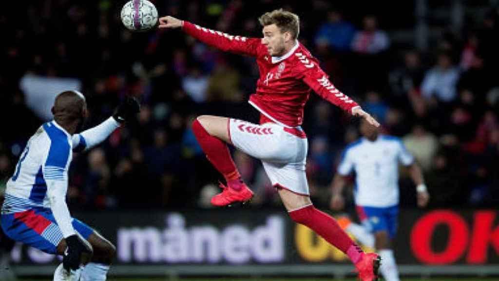 Nicklas Bendtner con la selección