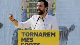Torrent, en un acto el pasado sábado ante la cárcel de Lledoners./