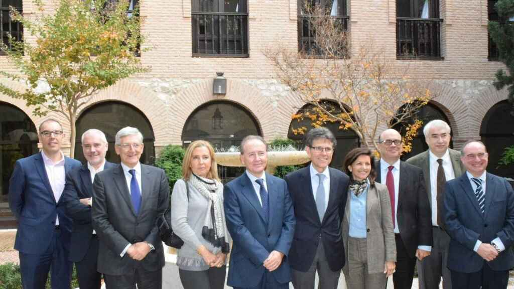 Foto de Familia de la cúpula directiva de Farmaindustria.