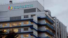 FILE PHOTO: Logo of Swiss drugmaker Novartis is seen at its branch in Schweizerhalle near Basel