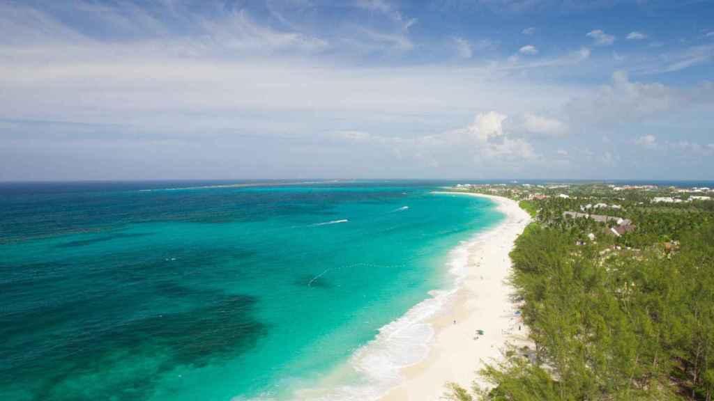 Una de las paradisíacas playas de la isla.