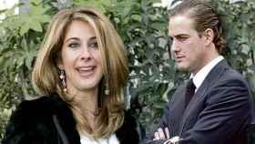 Carmen Janeiro y el empresario Luis Masaveu Herrero, en un montaje de JALEOS.