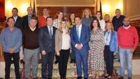 Grupo Popular de la Diputación con la nueva diputada, Elena Fernández Díaz (en primera fila, 3d)