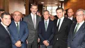Eurocaja Rural con el Rey y con el presidente de Castilla-La Mancha