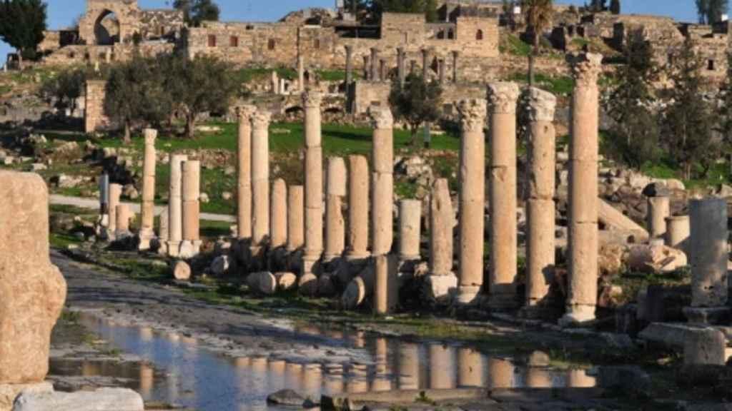 Ruinas romanas en Gerasa.