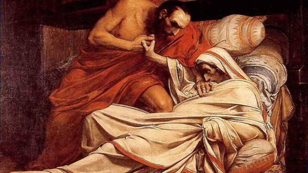 'La muerte de Tiberio'.