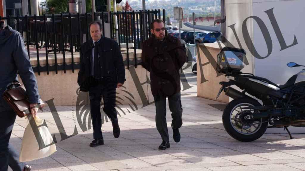 Jesús Ortiz en los juzgados de Pozuelo de Alarcón (Madrid) este jueves por la mañana.